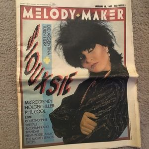 1987 Melody Maker from U.K. with Siouxsie on cover